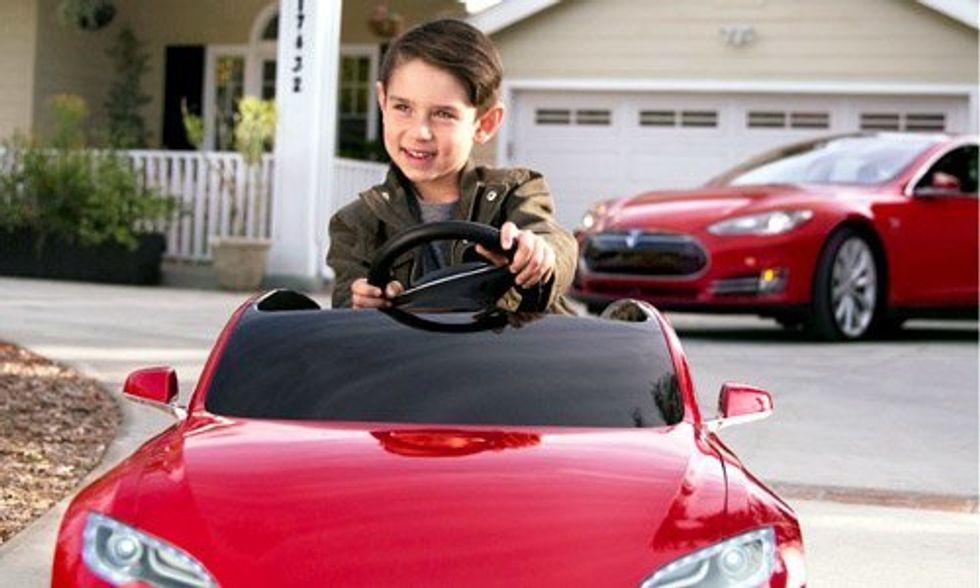 Tesla Model S for Kids Gets Next Generation Pumped About EVs
