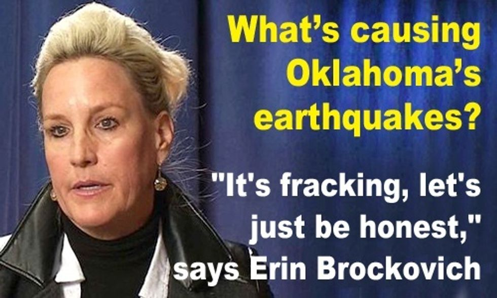 Erin Brockovich on Oklahoma Earthquakes: 'It's Fracking, Let's Just be Honest'
