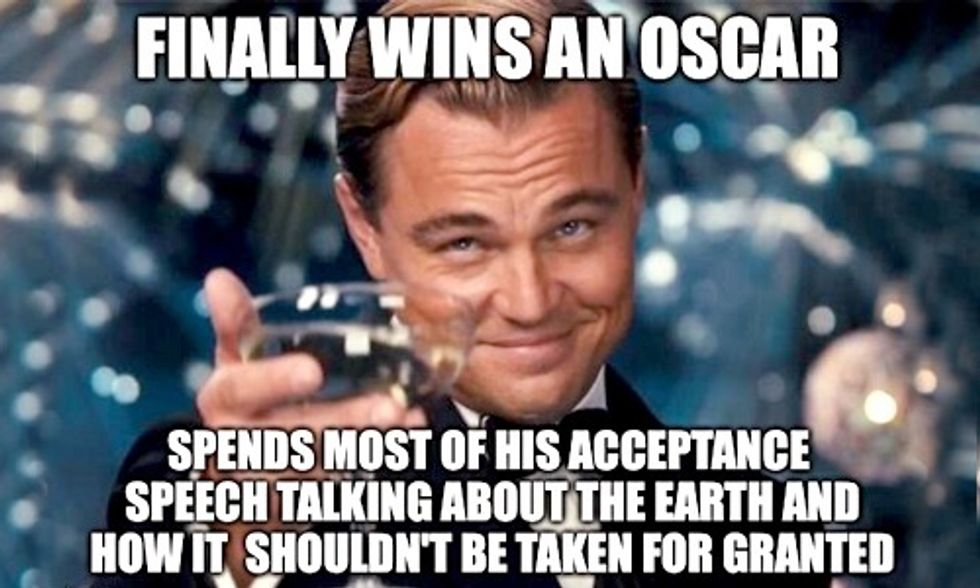 What Climate Deniers Had to Say About Leo's Oscars Speech