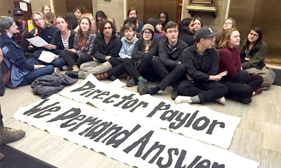 35 Students Occupy DEQ Lobby Demanding Investigation of Illegal Coal Ash Dumping