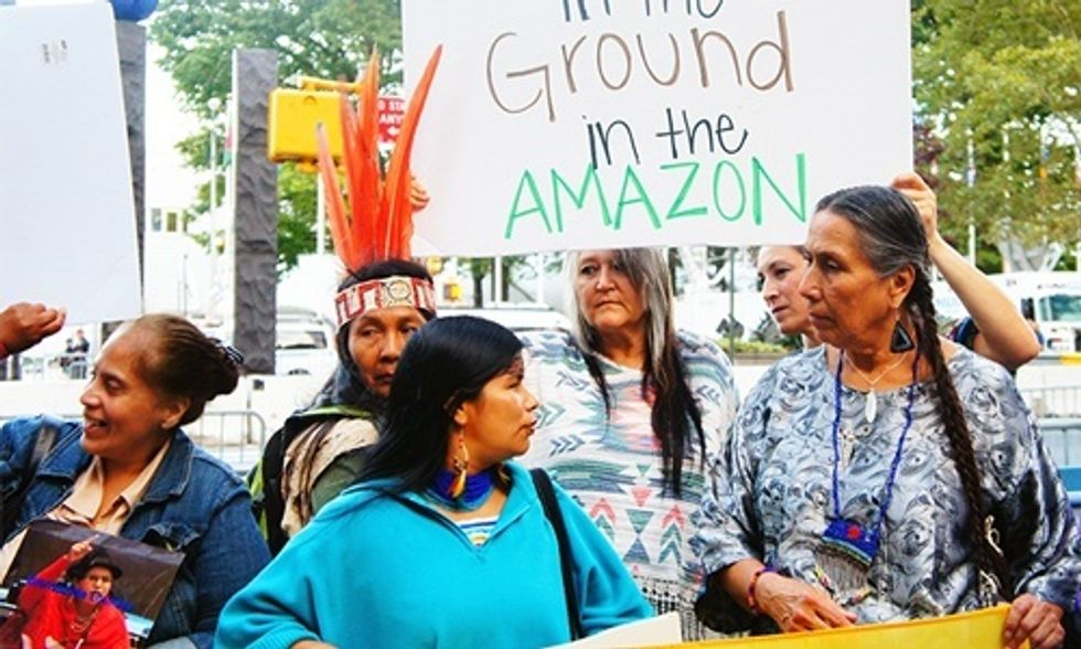 Women of the Amazon Defend Their Homeland Against New Oil Contract on International Women's Day