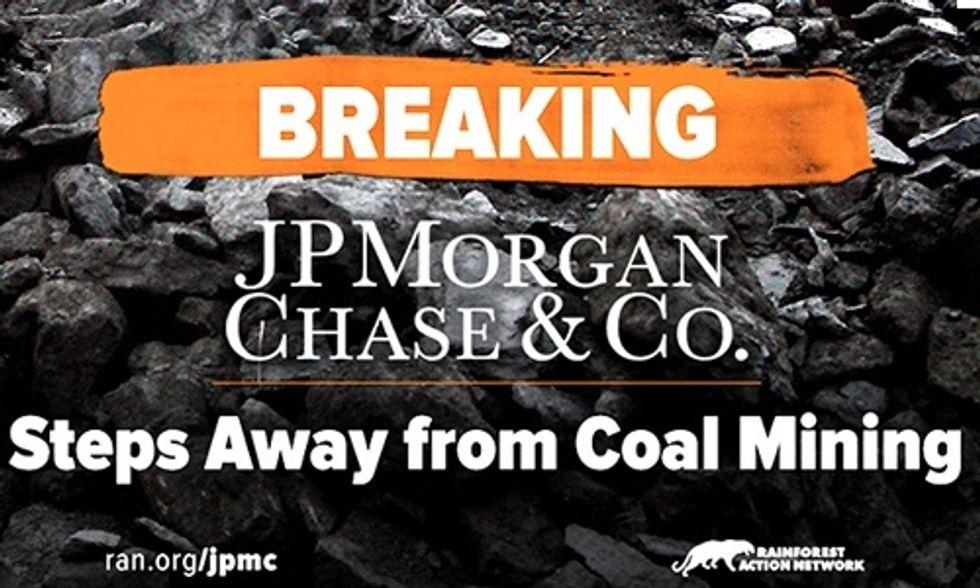 JPMorgan Becomes Latest Big Bank to Ditch Coal
