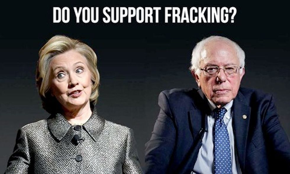 Democratic Debate Brings Anti-Fracking Movement to Center Stage