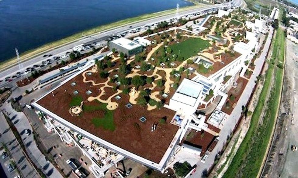 Take a Tour of Facebook's Massive 9-Acre Rooftop Park