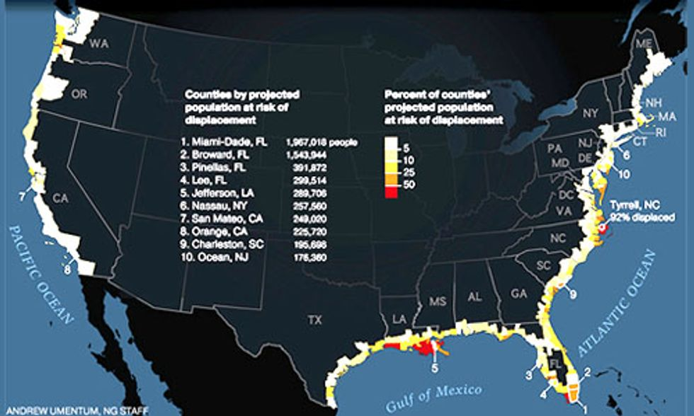 13 Million Americans at Risk From Rising Seas
