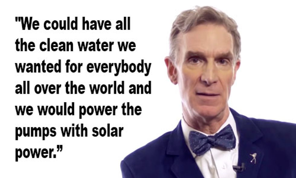 Bill Nye: Solar-Powered Desalination 'Could Be Key to the Future'