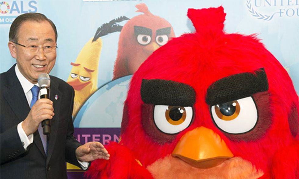 Red From 'Angry Birds' Tackles Climate Change