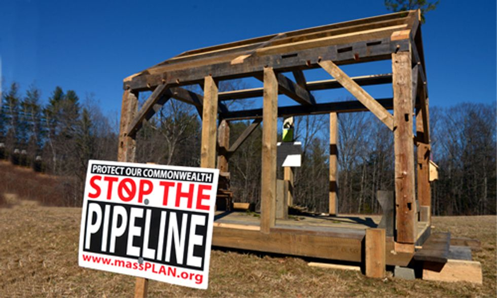 Community Builds Walden Pond Cabin in Thoreau-Inspired Fracking Pipeline Protest