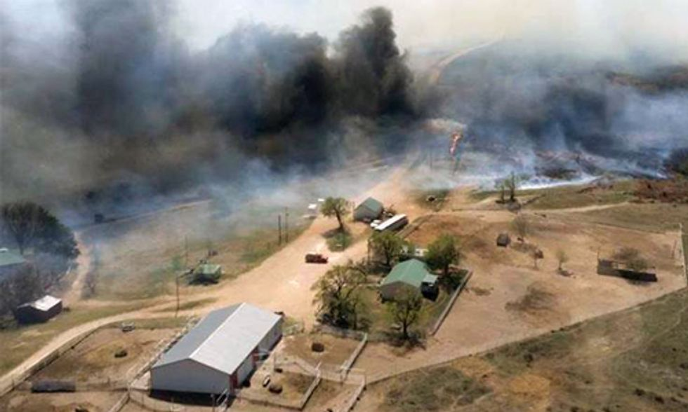 Largest Wildfire in Kansas History Continues to Burn