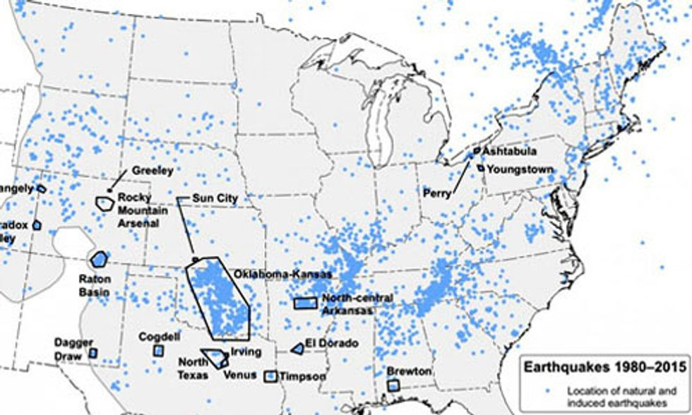 Induced Earthquakes Increase Chances of Damaging Shaking, Wastewater Disposal From Fracking Primary Cause