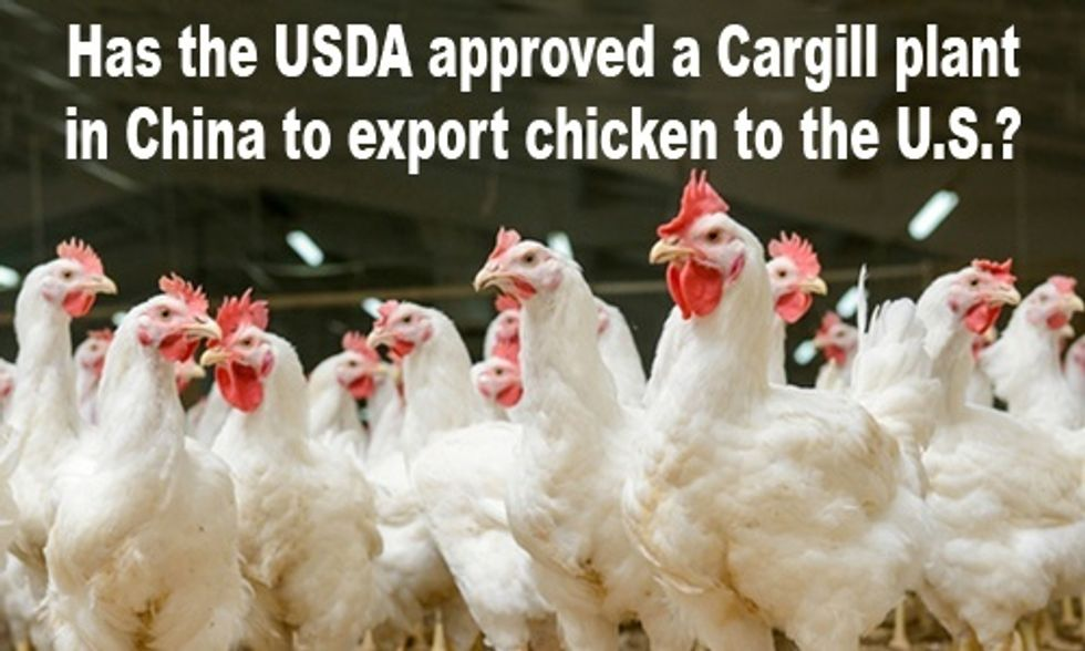 Has the USDA Approved Poultry Imports From China?