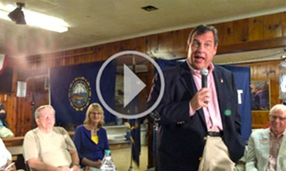 Watch Chris Christie Angrily Refute His Climate Denial