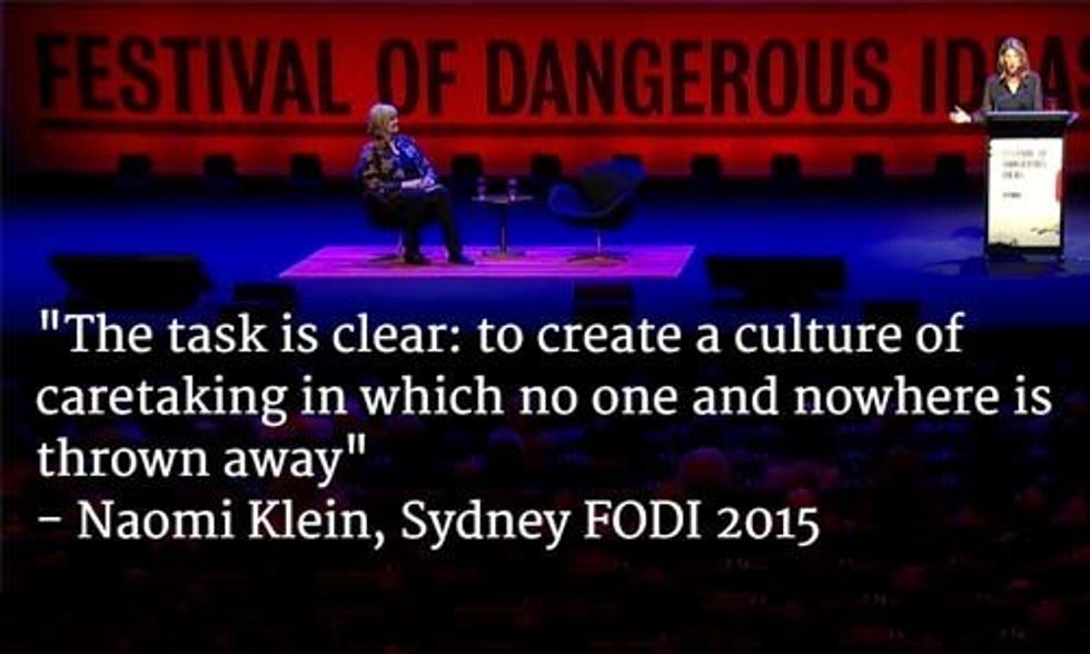 Naomi Klein: 'Toxic Ideology of Market Fundamentalism' Is to Blame for the 'Degradation of the Planetary System'