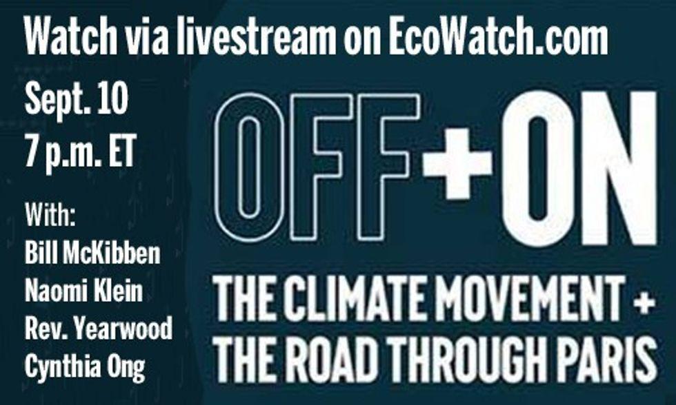 Watch Livestream: Bill McKibben and Naomi Klein Headline 'Off and On' Climate Event