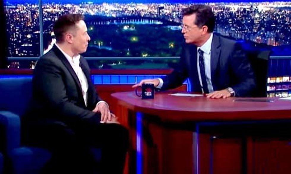 Stephen Colbert to Elon Musk: Are You a Superhero or Supervillain?