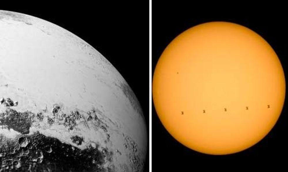 Stunning NASA Photos Reveal Sun, Moon and Pluto Up Close