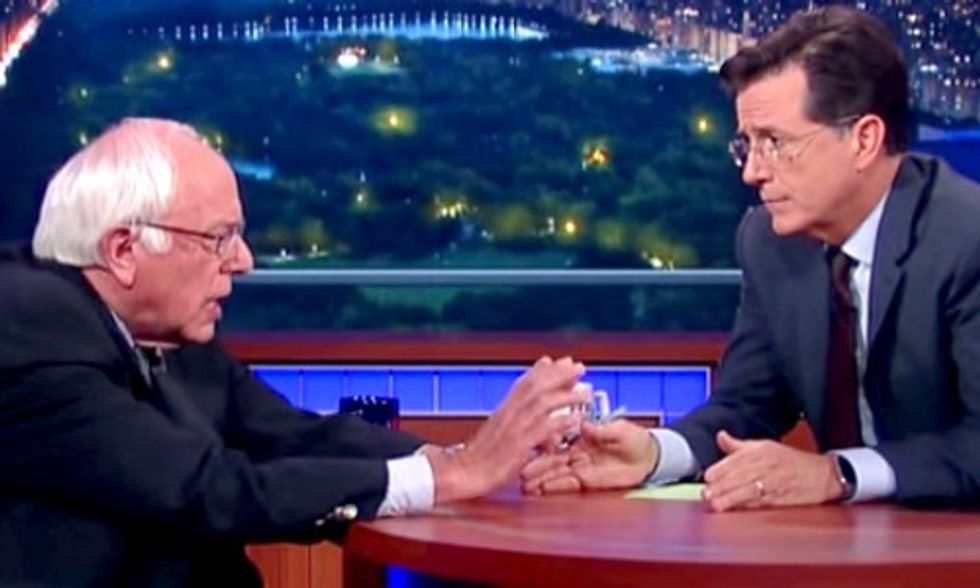 Stephen Colbert Explains Why Bernie Sanders Is Rocking Rallies All Over the Country