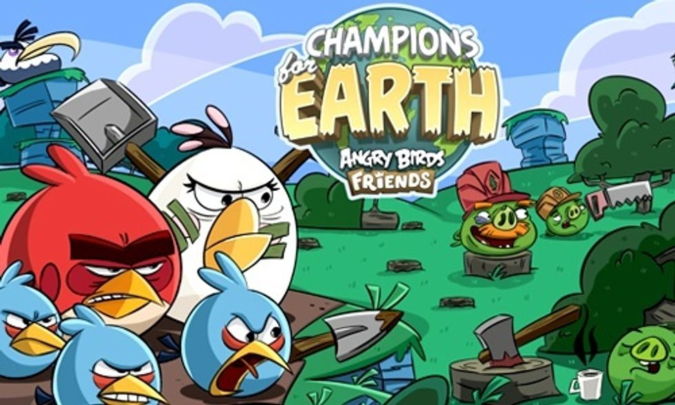 Angry Birds Takes on Climate Change