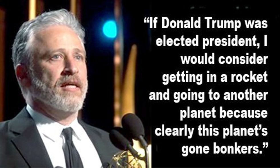 Jon Stewart: If Trump Becomes President, 'I Would Consider Getting in a Rocket and Going to Another Planet'