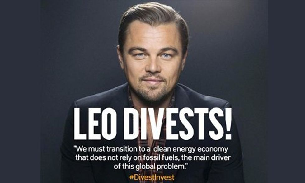 Leonardo DiCaprio Pledges to Divest From Fossil Fuels as Movement Grows 50-Fold in One Year