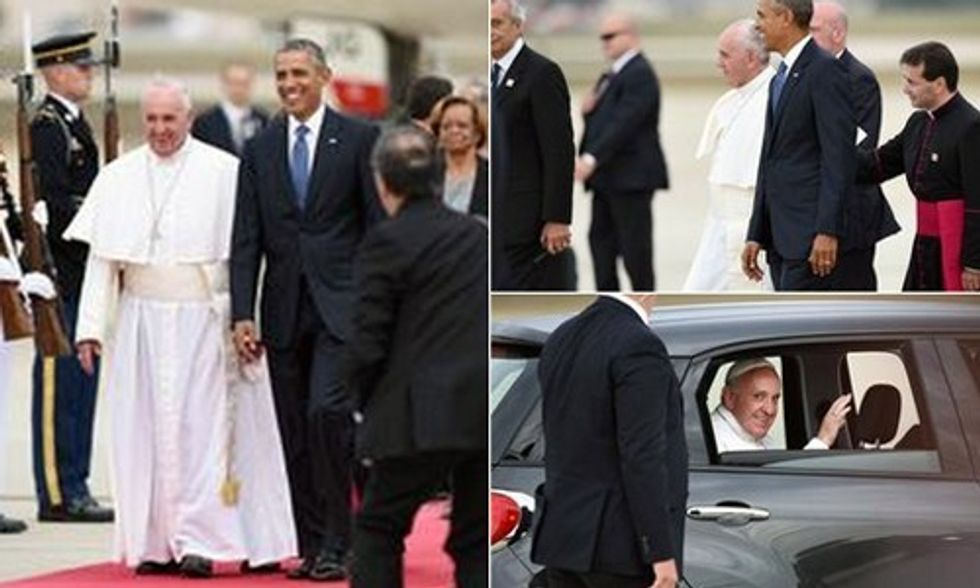 Bill McKibben: Pope's Arrival Brings Minor Miracles on the Climate Front