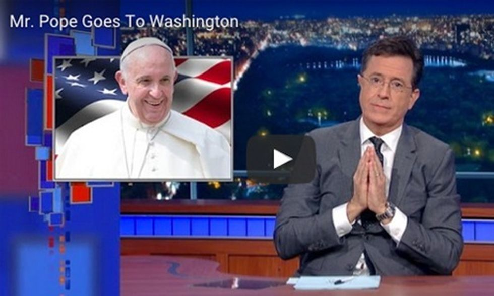 Watch Colbert Rip Into Republican Congressman for Boycotting Pope's Speech