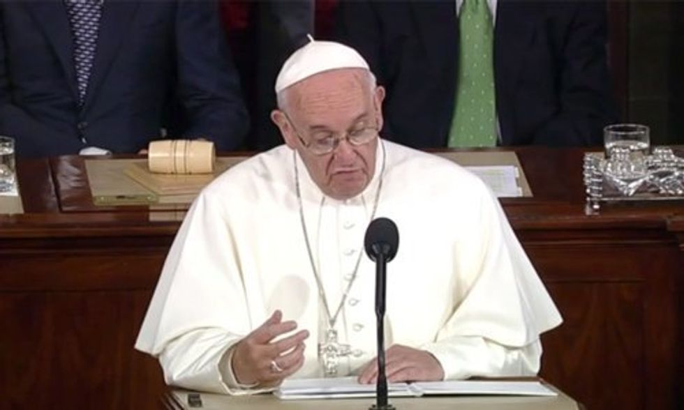 WATCH LIVE: Pope Francis Addresses Congress
