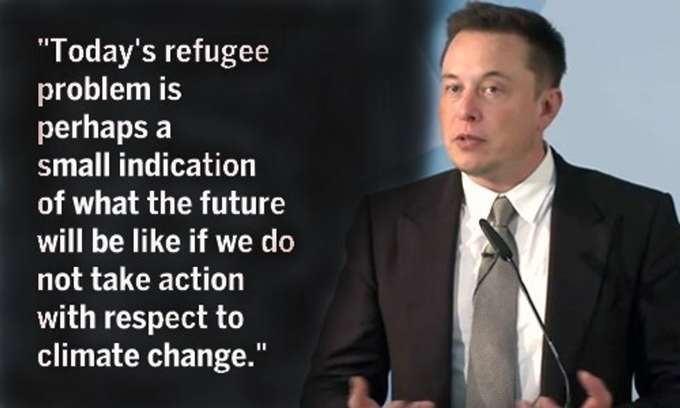 Elon Musk: Refugee Crisis Just a Glimpse of What's to Come If World Ignores Climate Change