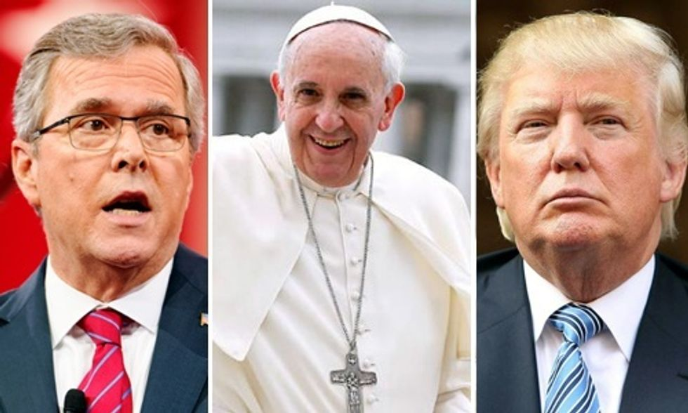 Trump, Bush Attack Pope's Call to Climate Action
