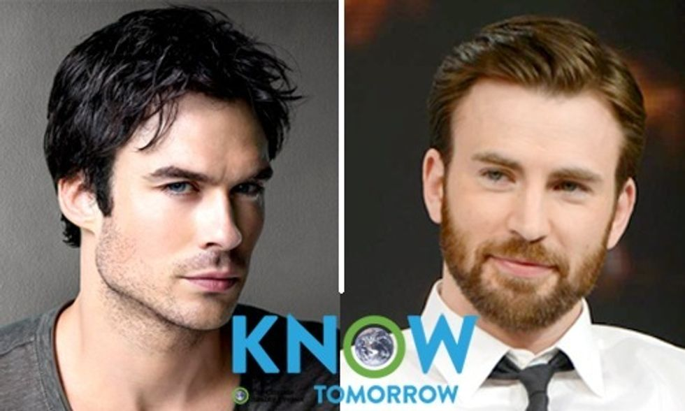 Ian Somerhalder and Chris Evans Ask You to Join KNOW TOMORROW