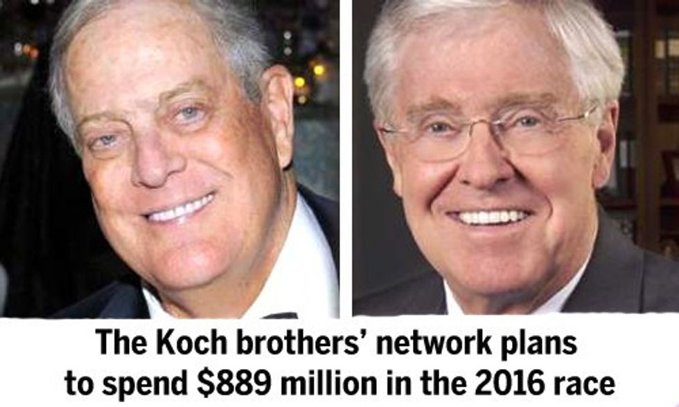 Senate Democrats Plan Attack on Koch Brothers Ahead of 2016 Race