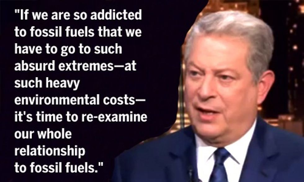 Al Gore Blasts GOP Climate Deniers, Thom Hartmann Says Throw Them in Jail