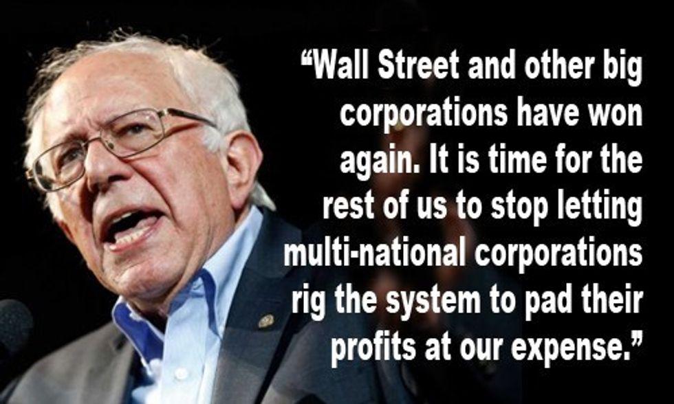 Bernie Sanders Vows to Stop 'Disastrous' TPP Deal