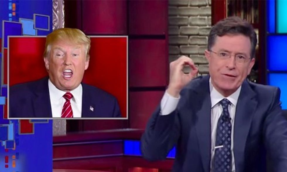 Stephen Colbert to Donald Trump: 'There Is Zero Chance' You'll Be President