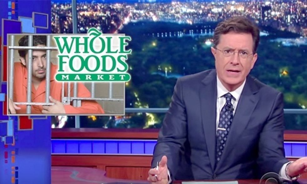 Watch Colbert Mock 'Cage-Free' Whole Foods for Getting Caught Using Prison Labor