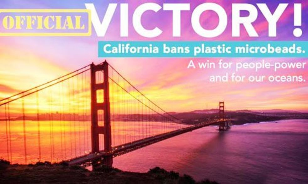 California Passes Nation's Strongest Ban on Plastic Microbeads