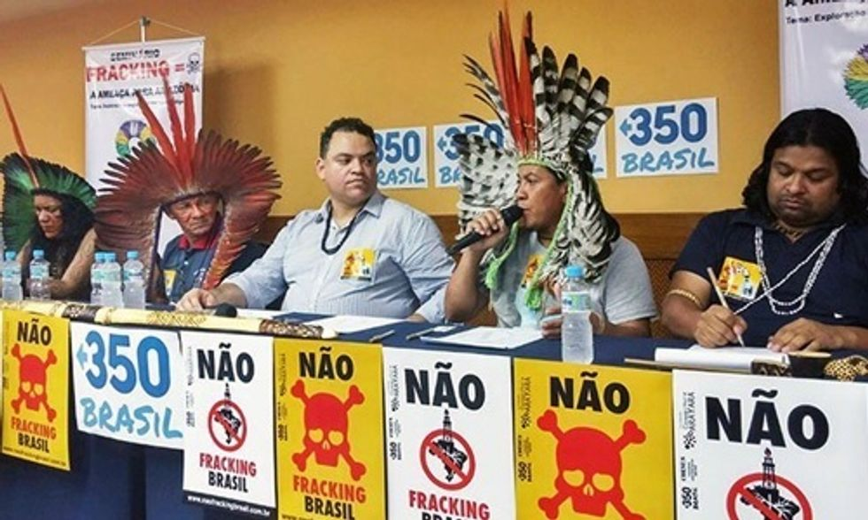 Indigenous Leaders Disrupt Auction Persuading Companies From Acquiring Fracking Blocks in Brazil