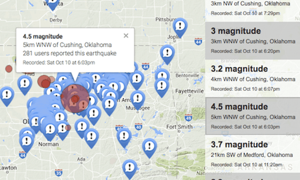 2 More Fracking-Related Earthquakes Hit Oklahoma Despite New Rules Meant to Prevent Them