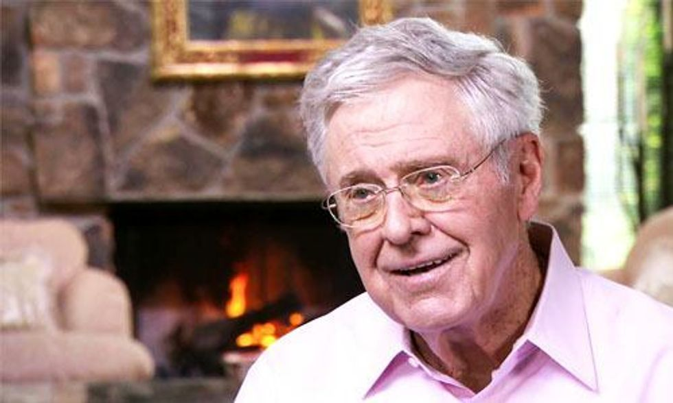 Charles Koch Misled CBS: The Kochs' Political Spending Is Not Publicly Disclosed