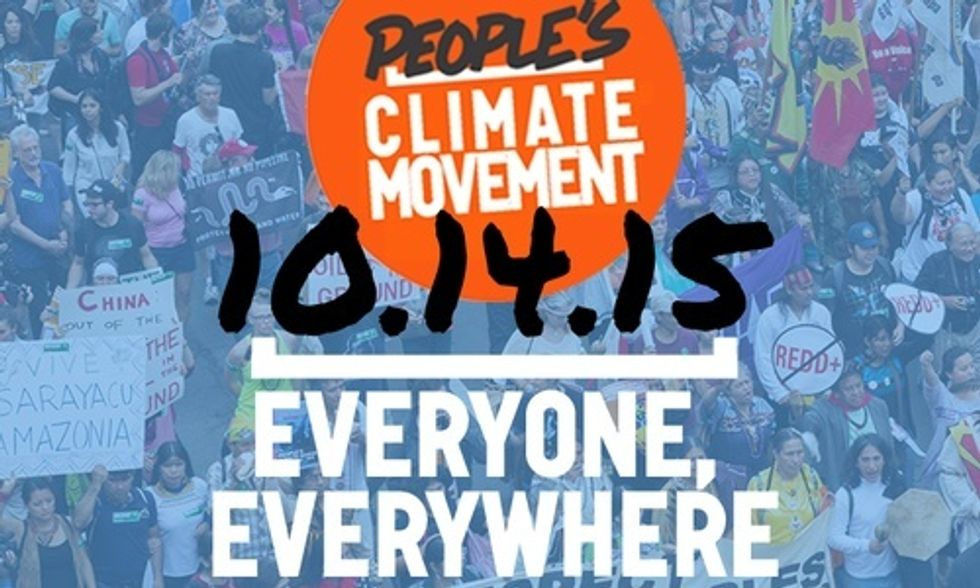 Join the People's Climate Movement Oct. 14 and Demand Bold Action in Paris