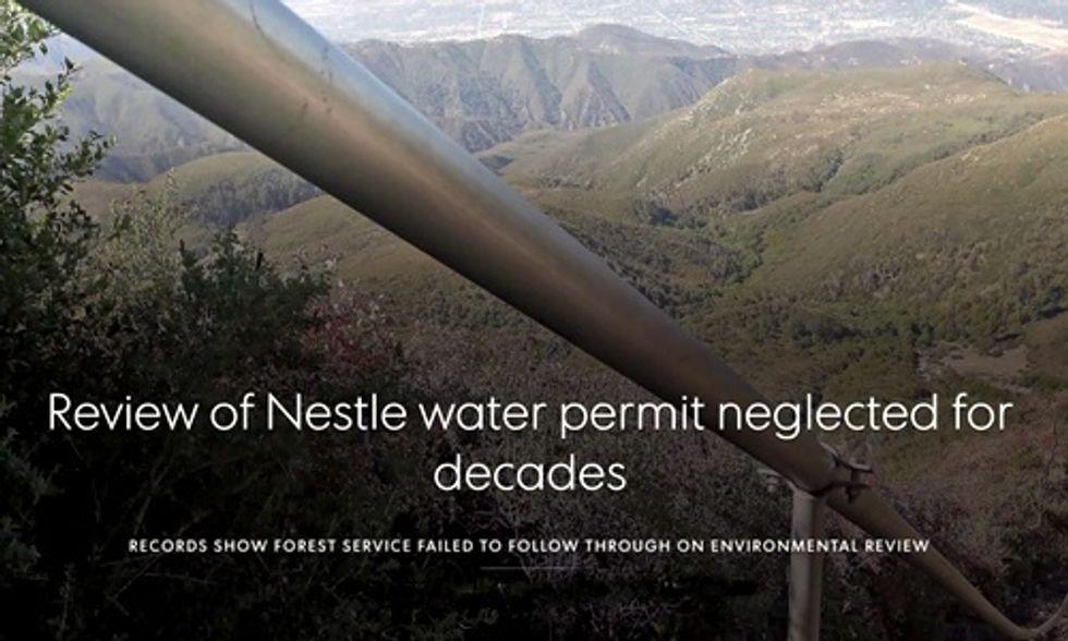 Nestlé: Unbottle California's Water