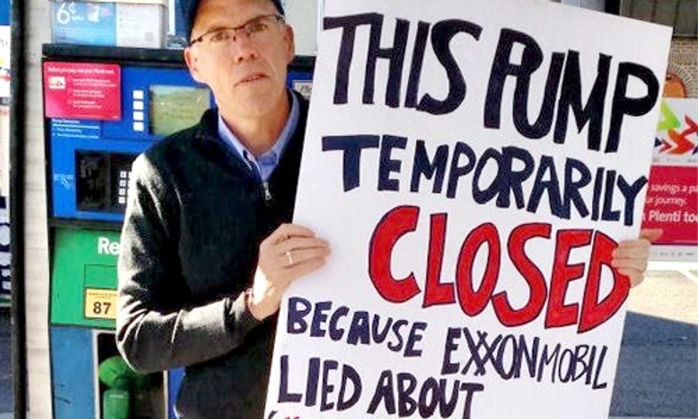 Bill McKibben Gets Arrested Exposing Exxon's 'Unparalleled Evil'