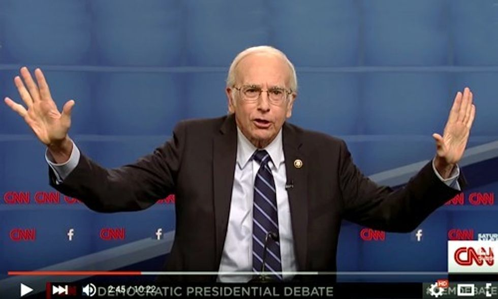 Larry David as Bernie Sanders on Saturday Night Live: 'We Need a Revolution'