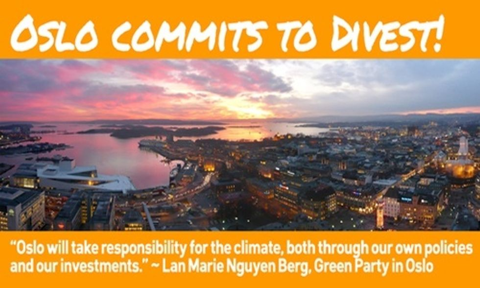 Oslo Becomes First Capital City in the World to Divest From Fossil Fuels
