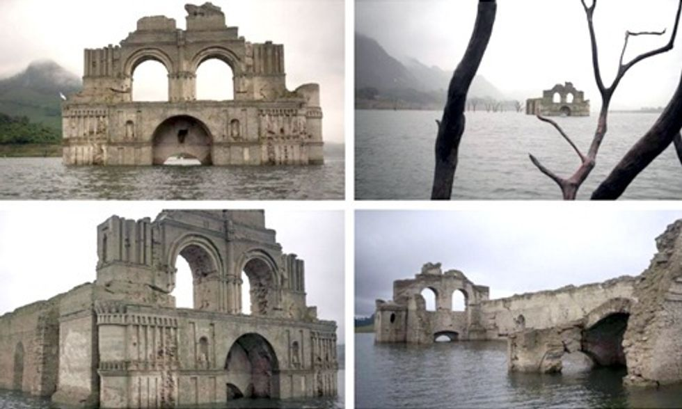 Drought Causes 450-Year-Old Church to Re-Emerge