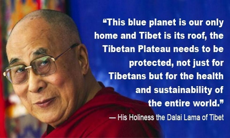 Dalai Lama: Climate Change Is Destroying Tibet's 'Roof of the World'