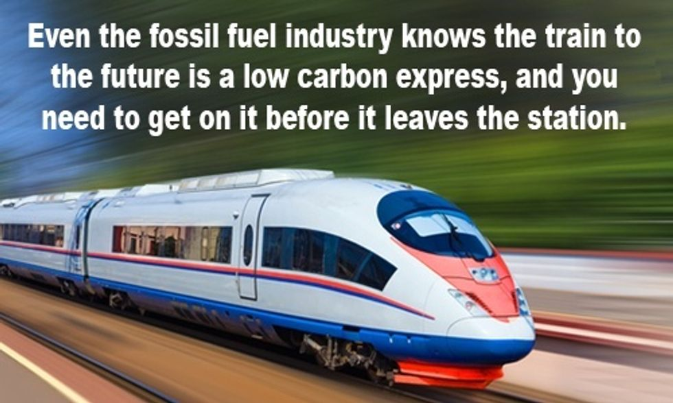 It's Time to Jump on the Train to the Future: All Aboard the Low Carbon Express
