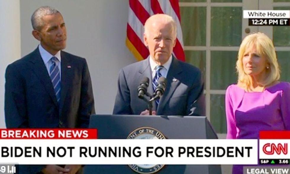 Joe Biden Will Not Run for President in 2016
