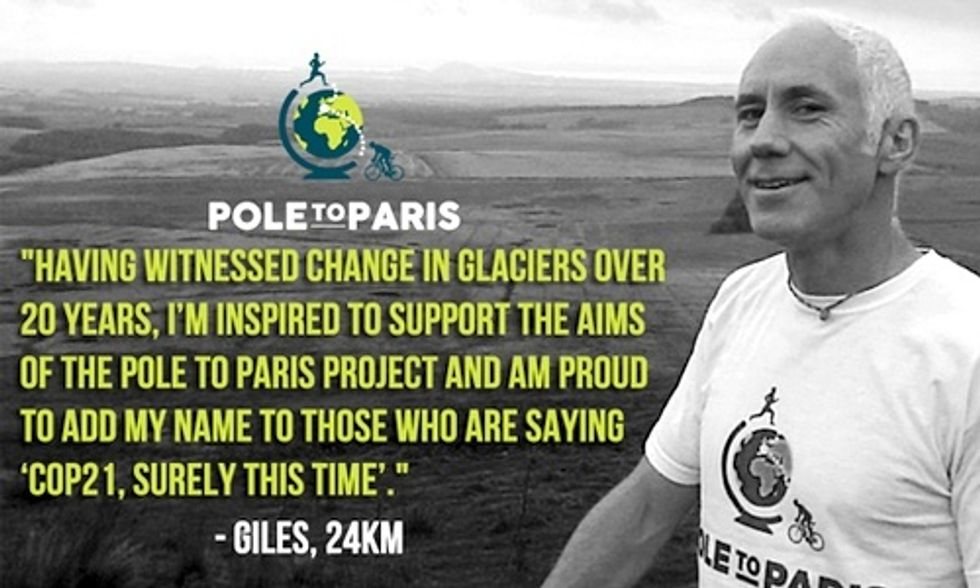 Remarkable Team of Scientists Run/Bike From North and South Poles to Paris Demanding Climate Action