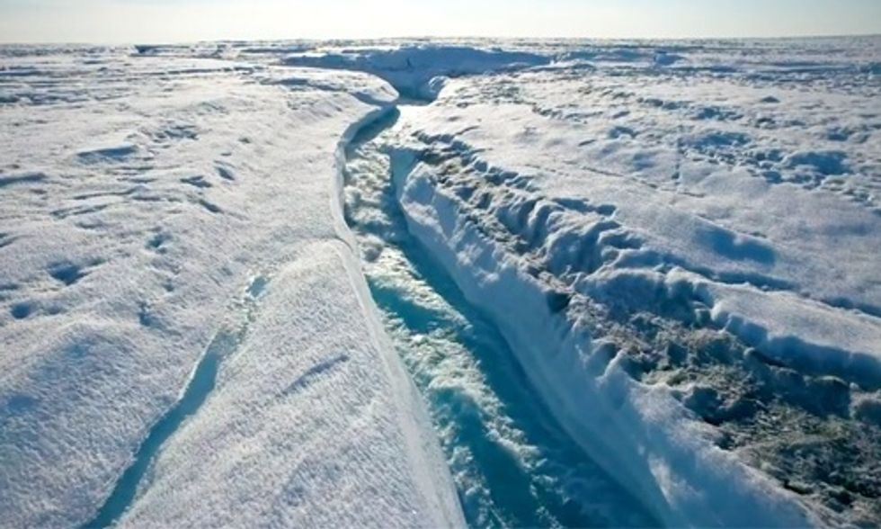 Stunning Drone Footage Shows Greenland Literally Melting Away